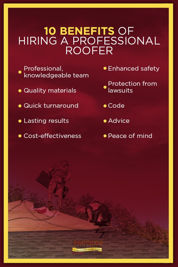 10 Benefits of Hiring a Professional Roofer